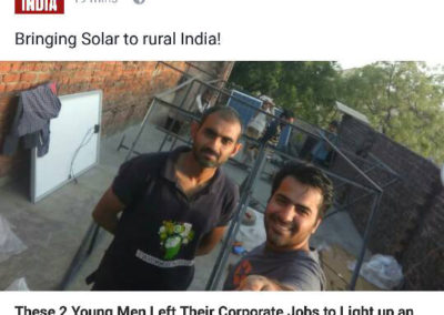 TheBetterIndia covered FS Green Labs Smart Solar Micro Grid
