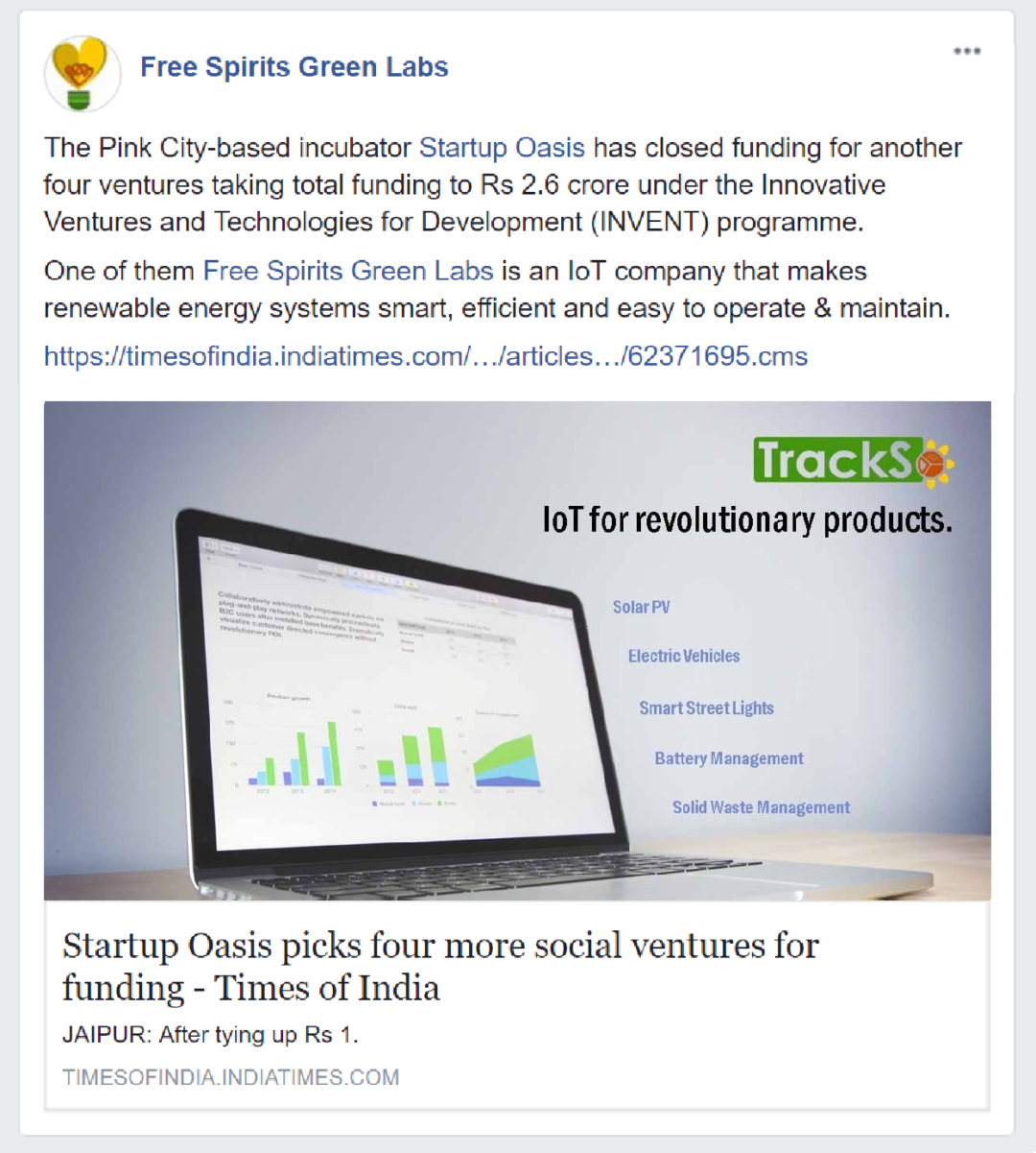 Free Spirits Green Labs closes funding round with Startup Oasis